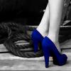 vlredreign: Blue suede shoes