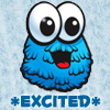 chloris01: Humour Excited blue monster