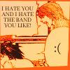 Amanuensis: hate the band (weremutt)